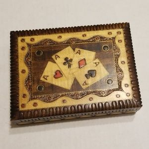 Vintage cards and box